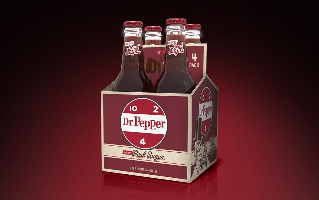 Dr Pepper Real Sugar Retro Retail 4 Pack Design
