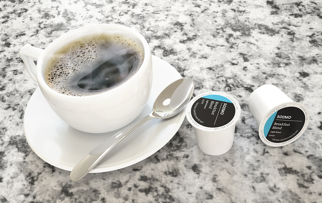 Solimo Single Serve Coffee K Cup Design