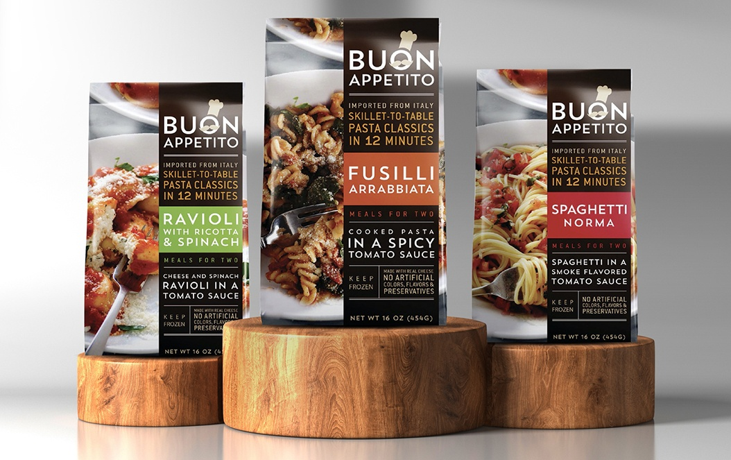 Buon Appetito Frozen Pasta Retail Bag Packaging