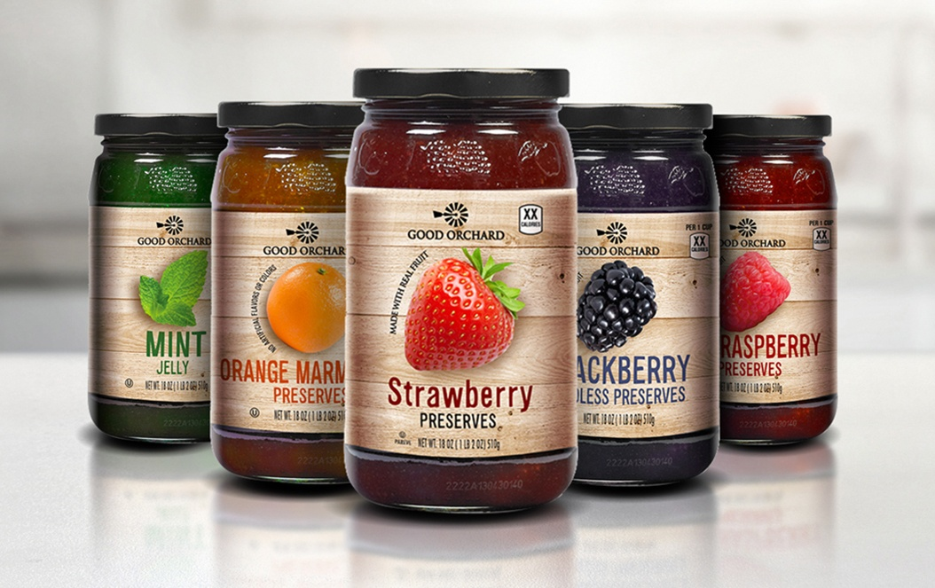 Good Orchard Preserves Retail Packaging