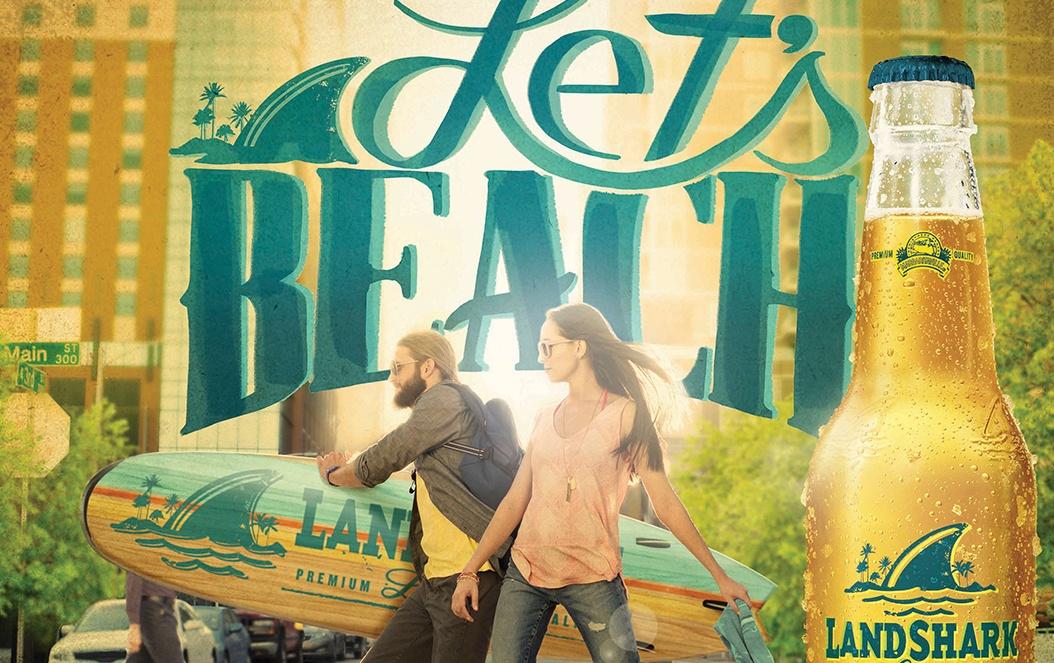 Land Shark Let's Beach Promotional POP Design