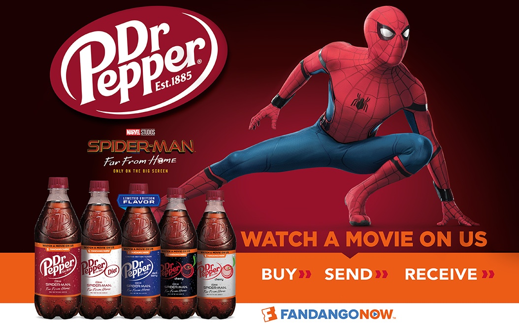 Dr Pepper Spider Man Fandango Promo Packaging