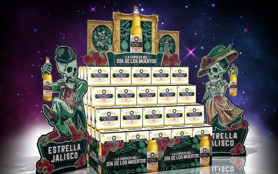 Estrella Jalisco Dia De Los Muertos POP Display